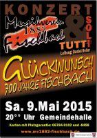 Konzert 09. Mai 2015 ab 20:00 Uhr in der Gemeindehalle Fischbach