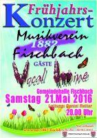 Frühjahrskonzert des Musikvereins am 21. Mai 2016