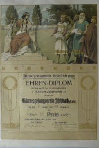 Ehrendiplom Juli 1924