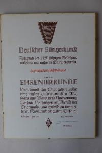Ehrenurkunde Juni 1985