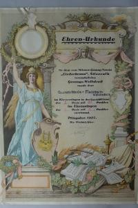 Ehrenurkunde Pfingsten 1927